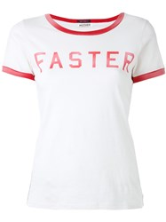 Mother Faster Print T Shirt Nude Neutrals