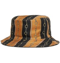 Gucci Reversible Velvet And Printed Twill Bucket Hat Black