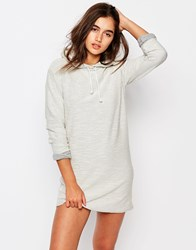 Missguided Hooded Sweater Dress Gray