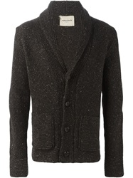 Al Duca D'aosta Speckled Knit Cardigan Brown