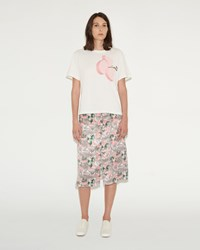 Julien David Tropical Floral Print Skirt