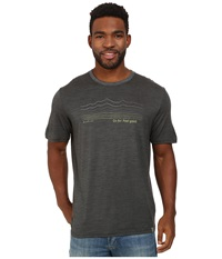 Smartwool Topography Tee Charcoal Men's T Shirt Gray