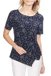 Vince Camuto Ditsy Showers Side Gather Top Regular And Petite Classic Na