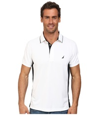 Nautica Short Sleeve Side Panel Tech Bright White Men's Short Sleeve Pullover