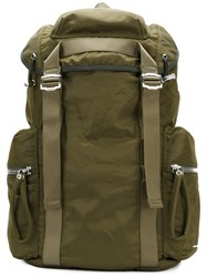 Diesel Black Gold Classic Military Backpack Men Polyamide One Size Green