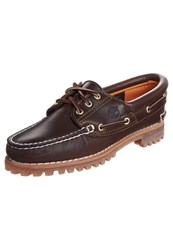 Timberland Heritage Noreen 3 Eye Boat Shoes Brown Smooth Dark Brown