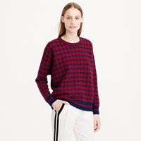 J.Crew Lambswool Sweater In Houndstooth