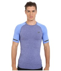 New Balance Trinamic Short Sleeve Top Pacific Heather Pacific Heather Men's Short Sleeve Pullover