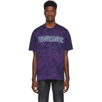 Dsquared2 Purple Bleached Slouch Fit T Shirt