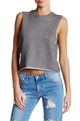 The Laundry Room Crop Muscle Tank Gray