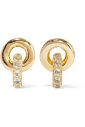 Elizabeth And James Gold Plated Topaz Earrings Gold