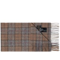 Barbour Tartan Lambswool Scarf Brown