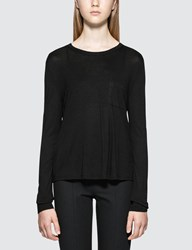 Alexander Wang Classic Cropped L S T Shirt With Chest Pocket