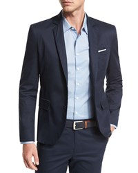 Atm Anthony Thomas Melillo Cotton Poplin Two Button Blazer Midnight Black