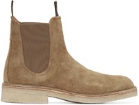 Rag And Bone Tan Suede Military Chelsea Boots