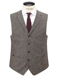 John Lewis And Co. Pilkington Tailored Waistcoat Biscuit