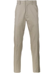 Valentino Contrasted Stripe Chino Trousers Nude And Neutrals