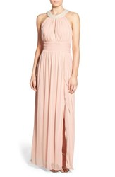 Women's Speechless 'Tia' Embellished High Neck Gown