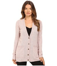 Atm Anthony Thomas Melillo V Neck Donegal Cardigan Ginger Donegal Women's Sweater Pink