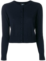 Paule Ka Cropped Cardigan Wool Xl Blue