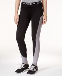 Energie Active Juniors' Lola Mesh Inset Leggings Black Grey