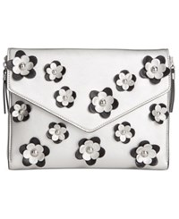 Inc International Concepts Vivianne 3D Floral Clutch Only At Macy's Silver
