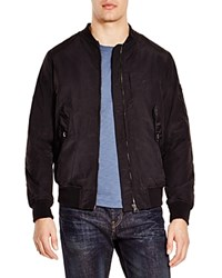 Blank Nylon Bomber Jacket Black