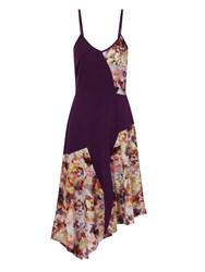 Hotsquash Floral Dress In Coolfresh Fabric Purple