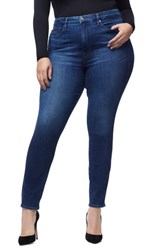 Good American Plus Size Waist High Waist Skinny Jeans Blue 161