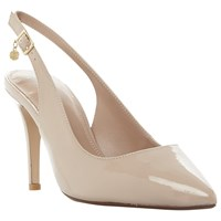 Dune Wide Fit Cathy Slingback Stiletto Court Shoes Nude