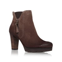 Paul Green Abbie High Heel Ankle Boots Brown