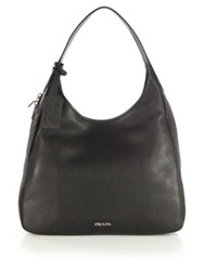Prada Deerskin Hobo Bag Black
