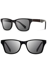 Men's Shwood 'Canby' 53Mm Wood Sunglasses Black Ebony Grey