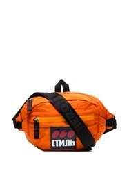 Heron Preston Ctnb Logo Patch Belt Bag Orange