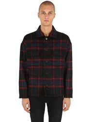 The Kooples Check Faux Ponyskin Jacket Multicolor