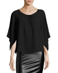 Bishop Young Open Sleeve Loose Fit Blouse Black
