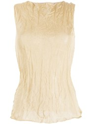 Theory Crinkled Effect Tank Top Neutrals