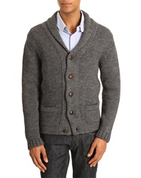 Menlook Label Malcolm Grey Alpaca Wool Blend Cardigan