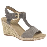 Gabor Karen Wide Wedge Heeled Sandals Grey