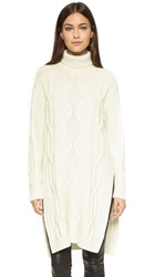 Derek Lam Turtleneck Sweater Cream Melange