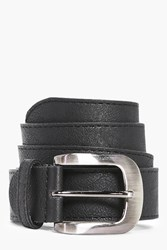 Boohoo Faux Leather Belt With Metal Buckle Black