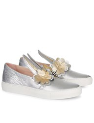 Minna Parikka Silver And Gold Clover Sneakers