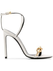 Tom Ford Cable Chain Sandals White