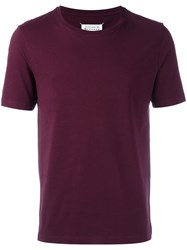 Maison Martin Margiela Classic Short Sleeve T Shirt Pink Purple