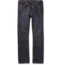 Levi's 1967 505 Slim Fit Dry Selvedge Denim Jeans Blue