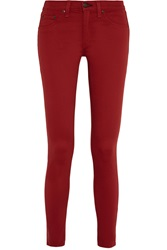 Rag And Bone Stretch Cotton Denim Look Leggings Red