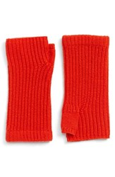 Rag And Bone Women's Rag And Bone 'Alexis' Cashmere Fingerless Gloves Red Fiery Red
