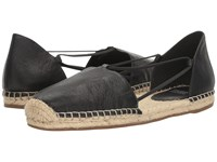 Eileen Fisher Lee Black Tumbled Leather Women's Flat Shoes
