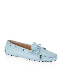 Tod's Laced Gommino Driving Shoe Female Light Blue