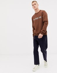 Tiger Of Sweden Jeans Regular Fit Chest Logo Sweater In Brown